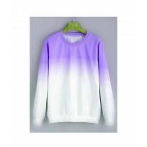 Marck & Jack Ombre Sweatshirt For Women Purple White (M&J-DW38)