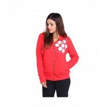 Marck & Jack Pearl Embellished Fleece Hoodie For Women Red (m&j-dw1)