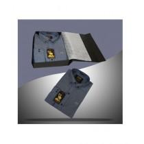 Markhor Clothing Exclusive Denim Blue Cotton Shirt For Men