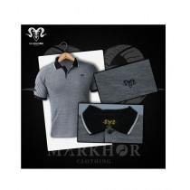 Markhor Clothing Pique Cotton Polo Shirt Black For Men