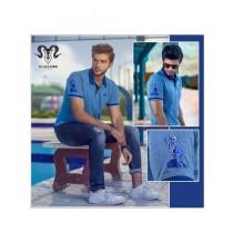 Markhor Clothing Pique Cotton Polo Shirt Blue For Men