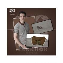 Markhor Clothing Pique Cotton Polo Shirt Brown For Men