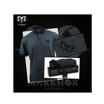 Markhor Clothing Pique Cotton Royal Black Polo Shirt Charcoal For Men