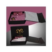 Markhor Clothing Royal Formal Cotton Slim Fit Shirt Burgundy For Men