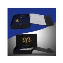 Markhor Clothing Royal Formal Cotton Slim Fit Shirt Navy Blue For Men