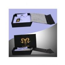 Markhor Clothing Royal Formal Cotton Slim Fit Shirt Violet For Men