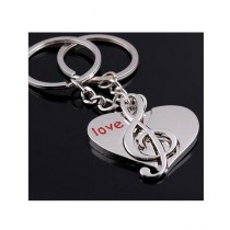 M.Mart Pair Of Heart Musical Note Keychain