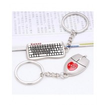 M.Mart Pair Of Mouse And Keyboard Keychain