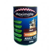 Maximate Canned Dog Food Beef Flavor 400g