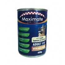 Maximate Canned Dog Food Lamb, Carrot & Salmon Flavor 400g