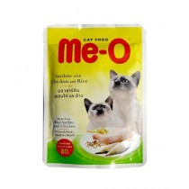Me-O Chicken and Rice Cat Wet Food Pouch 80g