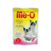 Me-O Sardine with Red Snapper in Jelly Cat Wet Food Pouch 80g