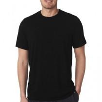 Tz Store Round Neck Plain T-Shirt For Men Black (0049)