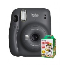 Fujifilm Instax Mini 11 Instant Camera Charcoal Gray - With 20 Sheets