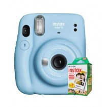 Fujifilm Instax Mini 11 Instant Camera Sky Blue - With 20 Sheets