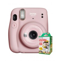 Fujifilm Instax Mini 11 Instant Camera Blush Pink - With 20 Sheets