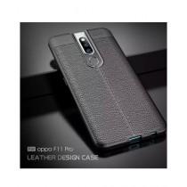MISC AutoFocus Silicone TPU Black Cover For Oppo F11 Pro