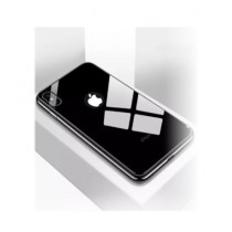 MISC Tempered Shine Back Glass + Silicone Case For iPhone 6/6s - Black