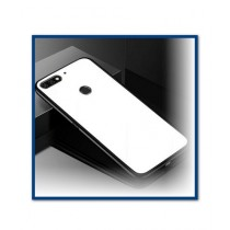 MISC Tempered Shine Back Glass + Silicone White Case For Huawei Y7 Prime 2018