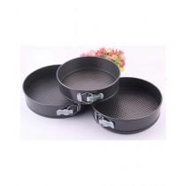 Mishlu Brands Non-Stick Round Cake Pan Set Pack of 3
