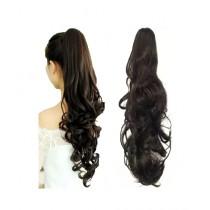Mishlu Brands Long Curly Hair Wig Extension Black