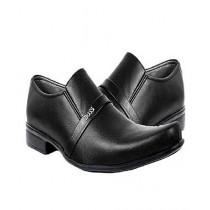 MM Mart Leather Shoes For Men Black (0972)