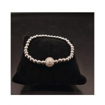MM Mart Zircon Bracelet For Women Silver (1374)