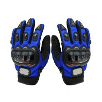 MM Pro Biker Riding Full Gloves Blue