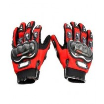 MM Pro Biker Riding Full Gloves Red