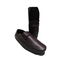 Mr Shoes Soft Leather Moccasin Shoes For Men Brown (0007)