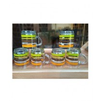 MRB Trade Crystal Clear Tea Cup - 6 Pcs