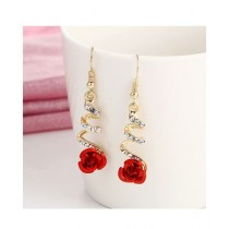 Mughal Traders Fashion Design Earrings For Women Red Rose
