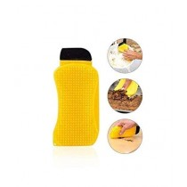 Muzamil Store 3 In 1 Silicone Sponge Scrubber Yellow