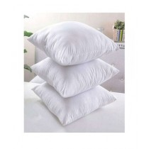 Muzamil Store Fiber Pillows White Pack of 3