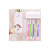 Muzamil Store Toothpaste Dispenser with Brush Holder