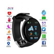 Muzamil Store D18 Smart Fitness Watch Black