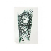 Muzamil Store Mechanical Arm Chest Clock Temporary Tattoo Sticker