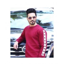 MZ Communication Printed One Sweat Shirt For Men Chili Red