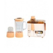 National 3-in-1 Juicer Blender & Grinder Peach & Beige (JPN-176)