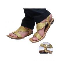 Nawabi Juta Golden Lawa Chappal For Men (0001)