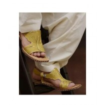 Nawabi Juta Golden Lawa Chappal For Men (0003)