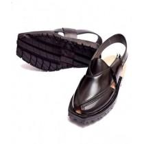 Nawabi Juta Upper Stitch Norozi Sandal For Men Black (0008)