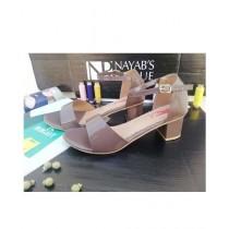 Nayab's Rogue Women's Block Heel Sandle Brown