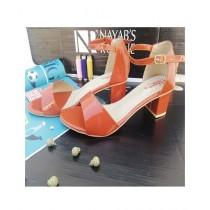 Nayab's Rogue Women's Block Heel Sandle Orange