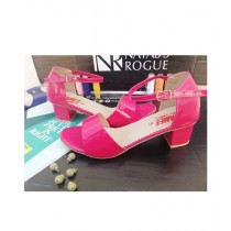 Nayab's Rogue Women's Block Heel Sandle Pink