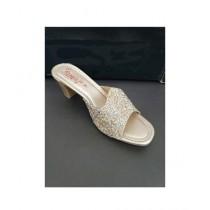 Nayab's Rogue Women's Shimmery Heel Gold