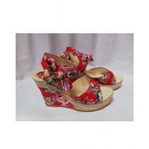 Nayab's Rogue Women's Wedge Heel Sandle Red