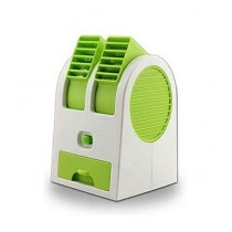NJ Store USB Battery Mini Turbine Dual Purpose Fan Green (0001)