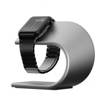 Nomad Charging Stand For Apple iWatch Silver