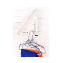 Az-Zahra Wall Mounted Clothes Hanger White Pack Of 2